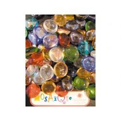Perle en verre solargil diamètre 18mm coloris assortis...