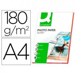 Papier photo q-connect jet d'encre glacé ultra-brillant...