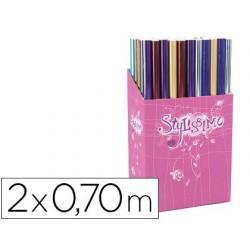 Papier cadeau stylissimo rouleau 2x0.70m métal mat et...