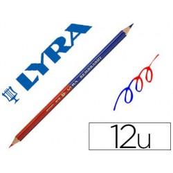 Crayon lyra bi-color bi-pointe corps hexagonal 7mm mine...