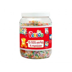 Perle à repasser graine créative 15 coloris assortis pot...