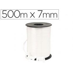 Bobine bolduc lisse 500mx7mm coloris blanc