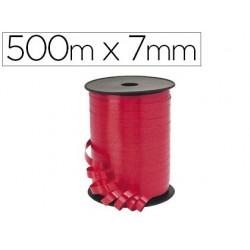 Bobine bolduc lisse 500mx7mm coloris rouge