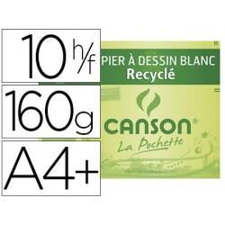 Papier dessin canson recyclé blancheur grain léger 160g...