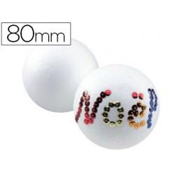 Boule styropor à décorer diamètre 80mm
