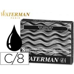 Cartouche waterman longue standard encre noire étui 8 unités