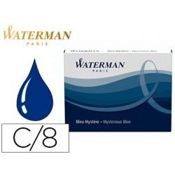 Cartouche waterman longue standard encre bleue noire étui...