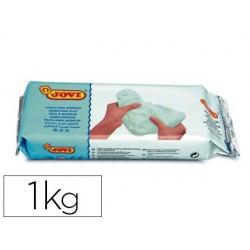 Pâte à modeler jovi autodurcissante coloris blanc pain 1 kg