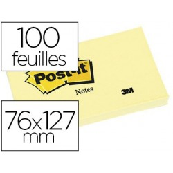 Bloc-notes post-it 655 76x127mm 100f/bloc...