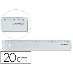 Règle plate q-connect 20cm marquage bords anti-tâches...