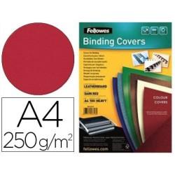 Couverture fellowes grain cuir 250g format a4 coloris...