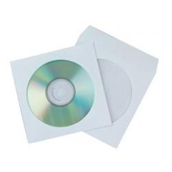 Pochette cd/dvd q-connect papier fenêtre rabat...