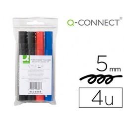 Marqueur q-connect permanent pointe biseautée tracé 5mm...