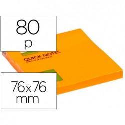 Bloc-notes q-connect quick notes couleurs néon 76x76mm...