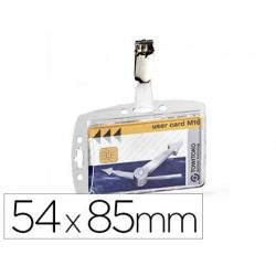 Porte-badge durable de sécurité 1 carte clip métal...