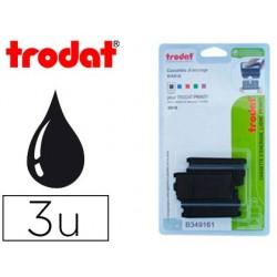 Recharge tampon trodat 4916 noir blister 3 unités