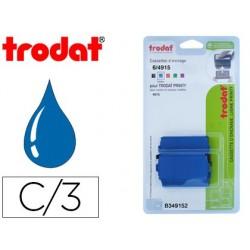 Recharge tampon trodat couleur bleu blister 3 unités