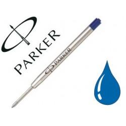 Recharge parker stylo-bille métal pointe large couleur bleu
