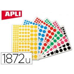 Gommette géométrique apli agipa ronde coloris assortis...