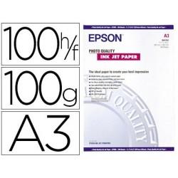Papier photo epson jet d'encre mat quality mat a3 100g/m2...