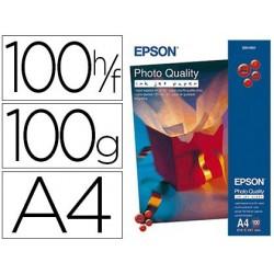 Papier photo epson jet d'encre mat quality mat a4 100g/m2...