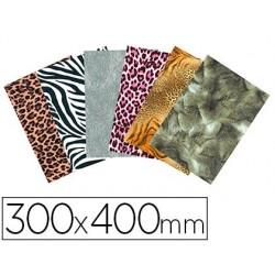 Feuille décopatch scolaire 30x40cm thème peaux d'animaux...