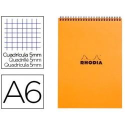 Bloc rhodia classic orange a6 10.5x14.8cm couverture...