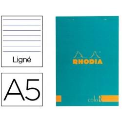 Bloc agrafé rhodia color n.16 a5 14.8x21cm couverture...
