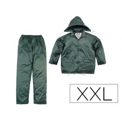 Ensemble pluie 400 veste pantalon polyester enduit pvc...