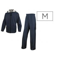 Ensemble pluie veste pantalon polyester enduit...