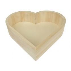 Plateau en bois graine créative 220x190x50mm forme coeur
