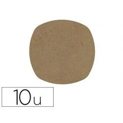 Dessous de verre gomille en bois forme ellipse 10cm lot...