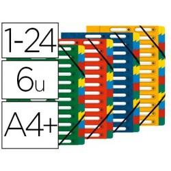 Trieur exacompta harmonika carte lustrée 5.5/10e a4+ 24...