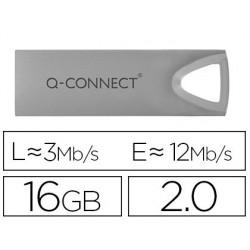 Clé usb q-connect 2.0 premium 16gb vitesse lecture 12mb/s...