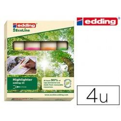 Surligneur edding ecoline pochette 4 unités