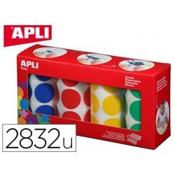 Gommette apli agipa adhésive ronde 33mm coloris assortis...