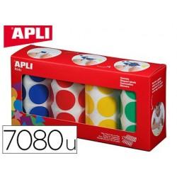 Gommette apli agipa adhésive ronde 20mm coloris assortis...