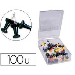 Punaise q-connect épingle mémo coloris noir boîte 100 unités