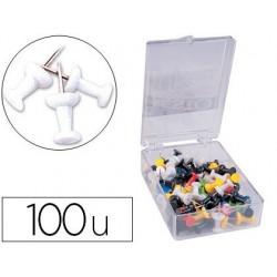 Punaise q-connect épingle mémo coloris blanc boîte 100...
