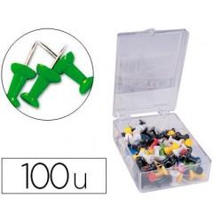 Punaise q-connect épingle mémo coloris vert boîte 100 unités