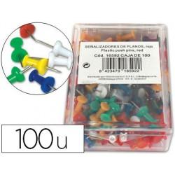 Punaise q-connect épingle mémo coloris assortis boîte 100...