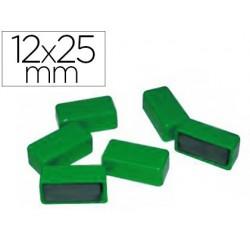 Aimant 12x25mm coloris vert blister 6 unités