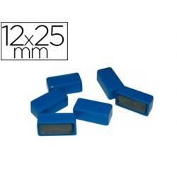 Aimant 12x25mm coloris bleu blister 6 unités