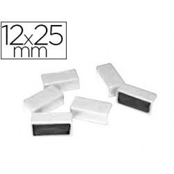 Aimant 12x25mm coloris blanc blister 6 unités