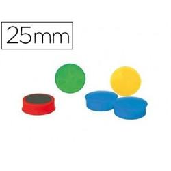 Aimant safetool rond diamètre 25mm coloris assortis...