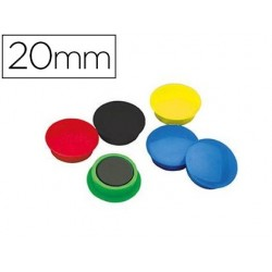 Aimant safetool rond diamètre 20mm coloris assortis...