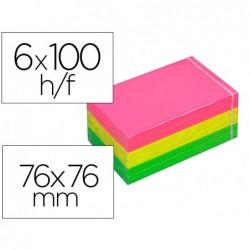 Bloc-notes post-it tartan 76x76m 100f/bloc...