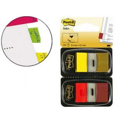 Marque-pages post-it index 25x44mm distributeur 50f...