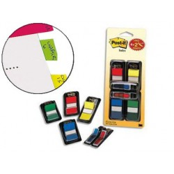 Marque-pages post-it standard index 25x44mm 50f...