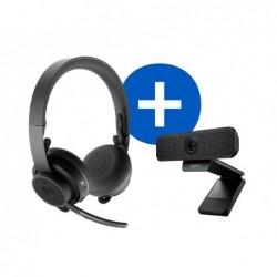 Kit video conference logitech avec webcam et casque audio